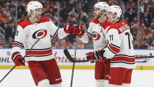 Hurricanes spoil Rangers' Cup celebration with shutout victory