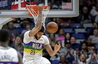 Untraded Davis scores 32, Pelicans beat Wolves, 122-117