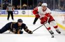 Detroit Red Wings vs. Buffalo Sabres: Dylan Larkin battles Jack Eichel