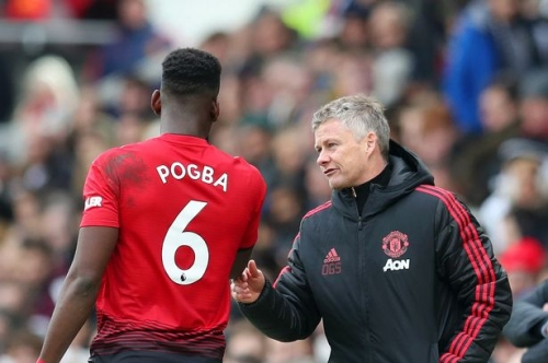 Solskjaer reacts to Paul Pogba's performance for Manchester United