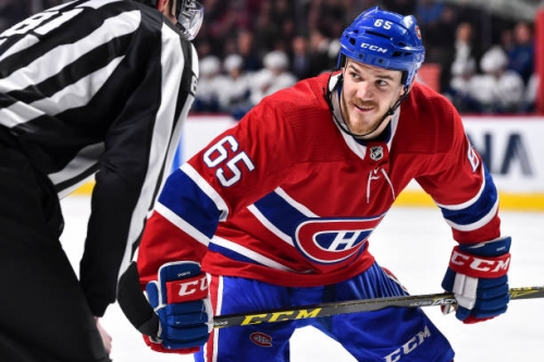 Montreal Canadiens Place Paul Byron on Injured Reserve, Activate Andrew Shaw