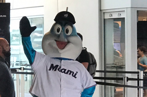 Miami Marlins unveil new costume for Billy the Marlin mascot