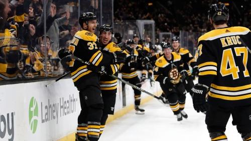 Bergeron scores OT winner to lift Bruins past Kings