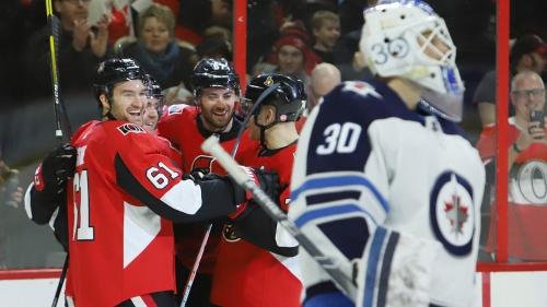 Stone scores twice against hometown team as Senators topple Jets