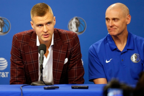 Rick Carlisle has one-on-one film session with Kristaps Porzingis, lays out Mavericks' vision for how he'll be utilized