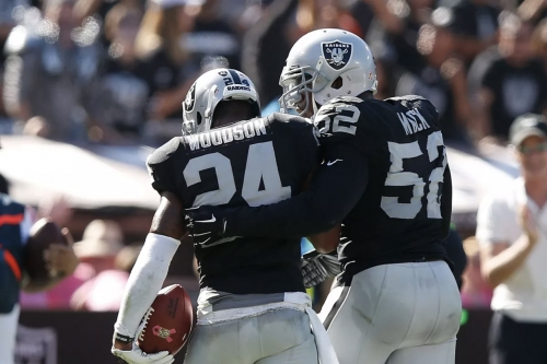 Charles Woodson says it's only a coincidence that a Raiders' coaching position has opened up just as he left ESPN job