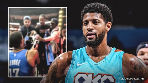 Video: Paul George hands his game-worn shoes to Thunder fan after win over Rockets