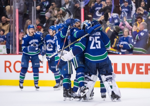 Canucks Douse Flames on Pettersson's SO Winner