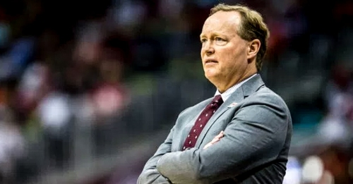 Mike Budenholzer hurling Magic loss in the trash