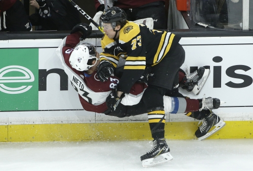 Marchand's OT goal lifts Bruins over Avalanche 2-1
