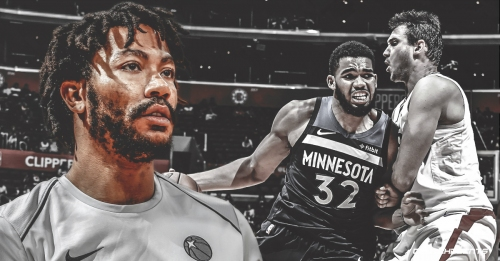 Timberwolves star Derrick Rose returns to practice, questionable to play vs. Clippers on Monday