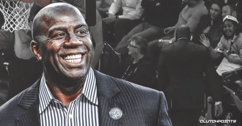 Video: Magic Johnson leaves Lakers-Sixers game early due to blowout