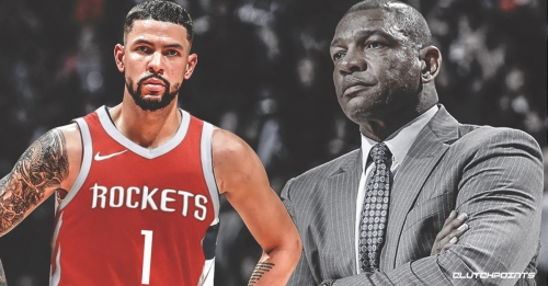 Video: Rockets' Austin Rivers confronts heckler who said Doc Rivers 'suck at coaching'