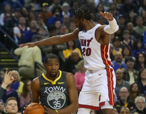 Warriors 120, Heat 118: Warriors rely on Steph, KD & Klay