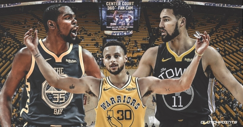 Warriors are 8-0 when Kevin Durant, Stephen Curry, Klay Thompson score 90+