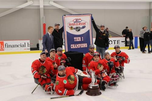 Blackhawks repeat as Tier I Sled Classic champions