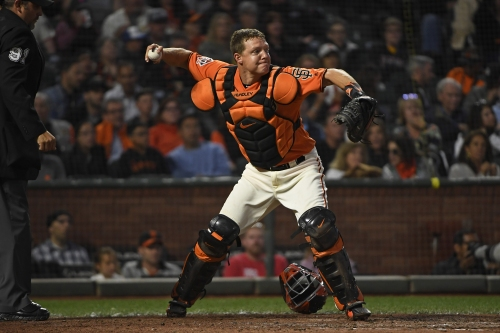 A's sign former Giants catcher to minor league deal