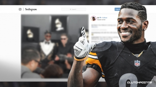 Steelers WR Antonio Brown makes an appearance at the Grammy Awards