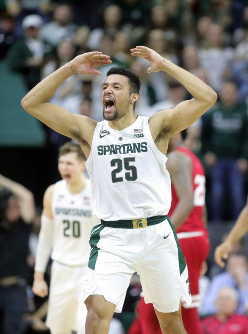 Michigan State basketball's Kenny Goins (elbow) questionable vs. Wisconsin