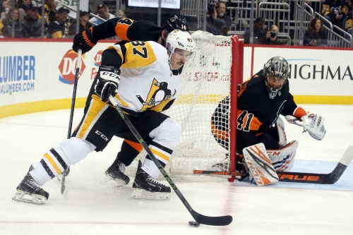 Flyers look to extend point streak, cut playoff deficit to four points vs. Pittsburgh