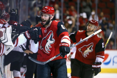 Jason Demers made his return to Coyotes practice, and players took notice