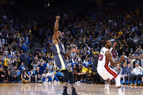 Kevin Durant double dribbled on the final possession, according to the NBA
