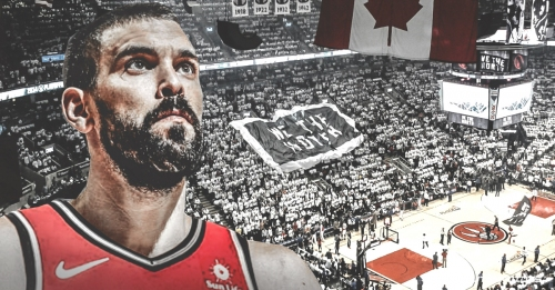 Video: Raptors' Marc Gasol gets standing ovation in first home game in Toronto