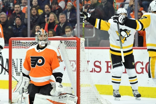 Penguins vs. Flyers Recap: Crosby welcomes Carter Hart to the show. Puts up 3 points. Pittsburgh wins 4-1