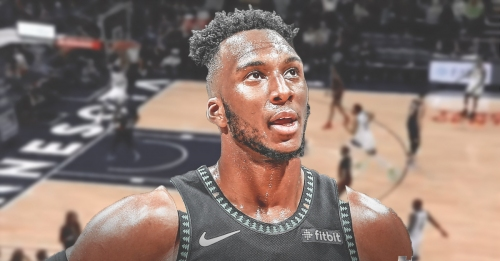 Video: Timberwolves' Josh Okogie completes alley-oop off a catch from near halfcourt