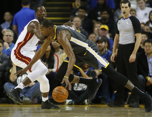 NBA rules Kevin Durant double-dribbled late in win over Heat