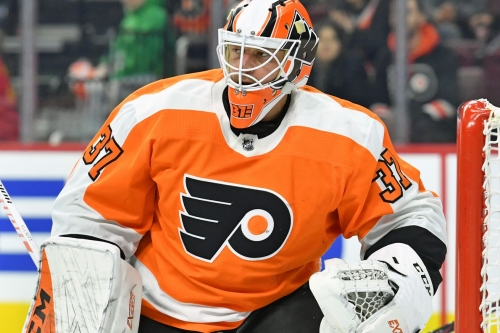 Brian Elliott has been loaned to the Lehigh Valley Phantoms on a conditioning stint
