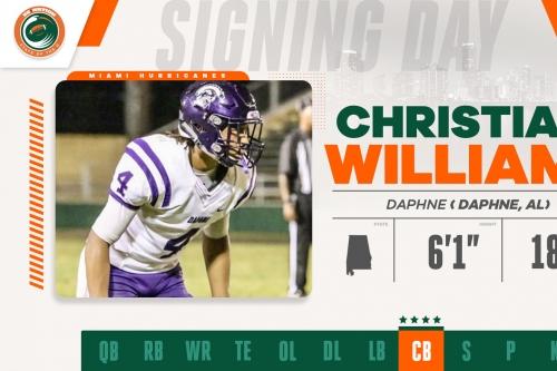 Miami Hurricanes 2019 Recruiting Notebook: CB Christian Williams
