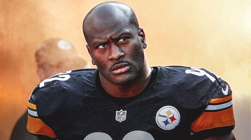 Former Steelers star James Harrison is aiming at being an action star and is coming after The Rock