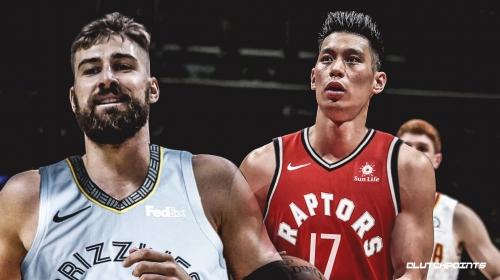 Jeremy Lin asked former Raptors center Jonas Valanciunas if he could wear No. 17