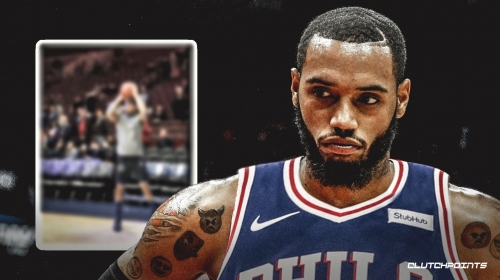 Video: Sixers' Mike Scott nails 3's pregame with eyes closed