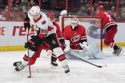 Recap: Canes score four unanswered in win over Sens