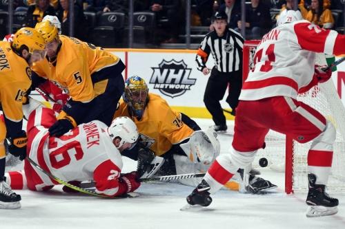 Detroit Red Wings 3, Nashville Predators 2: Seeing Red