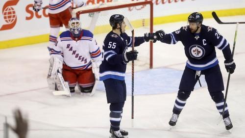 Jets hold off Rangers behind Scheifele's three points