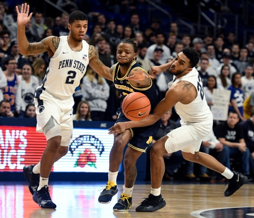 Michigan loses John Beilein, then is stunned by lowly Penn State 75-69