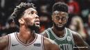 Video: Sixers' Joel Embiid tracks and blocks Celtics' Jaylen Brown's layup attempt