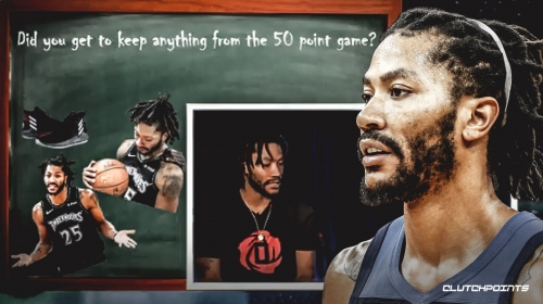 Timberwolves' Derrick Rose put shoes, jersey and ball from his 50-point game in his son's room