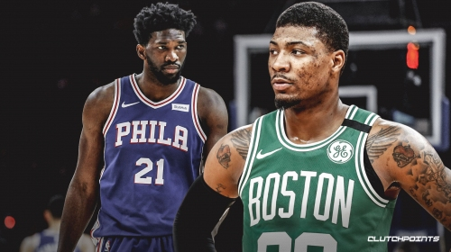 Video: Celtics' Marcus Smart finishes with powerful slam over Joel Embiid