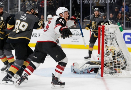 Darcy Kuemper shines as Coyotes pull away from Golden Knights in third period to snap skid