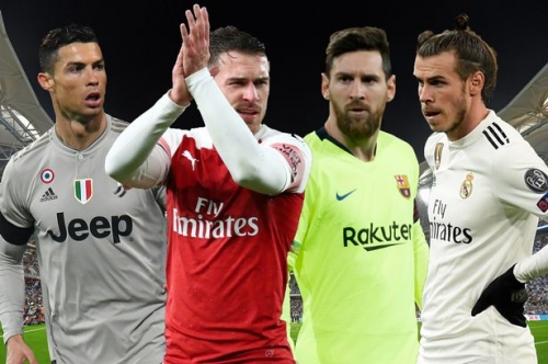 The highest paid footballers in the world and where Juventus-bound Arsenal star Aaron Ramsey stands
