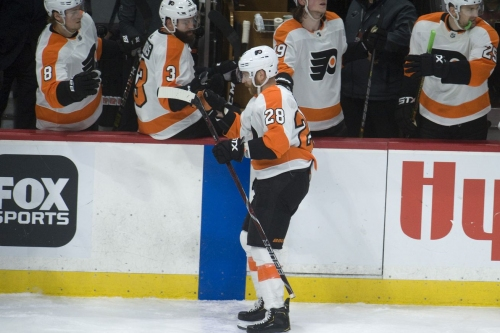 Comeback kids strike again as Flyers rally for a 5-4 win over the Wild
