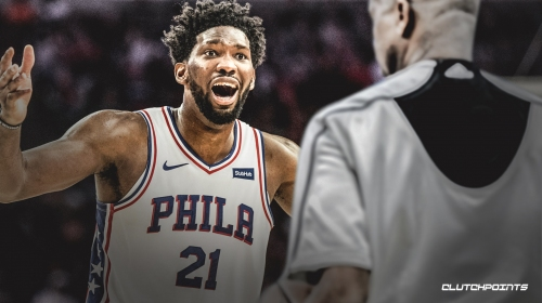 """Sixers All-Star Joel Embiid fined $25,000 for saying 'the refs f**king sucked"""" after loss to Celtics"""