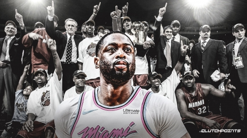 Video: Heat icon Dwyane Wade re-enacts celebration from 2006 NBA Finals win over Mavs