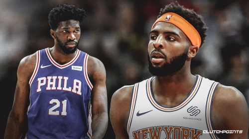 Video: Knicks' Mitchell Robinson rejects Sixers' Joel Embiid on back-to-back plays