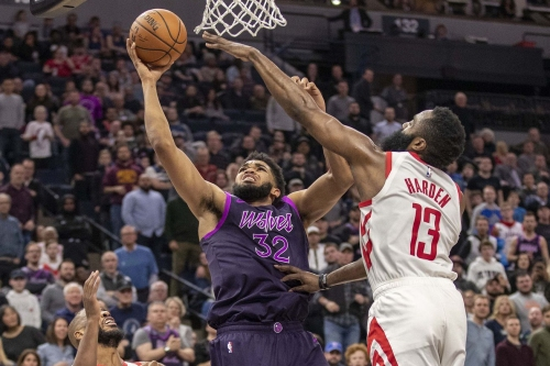 Rockets can't stop Timberwolves, fall 121-111