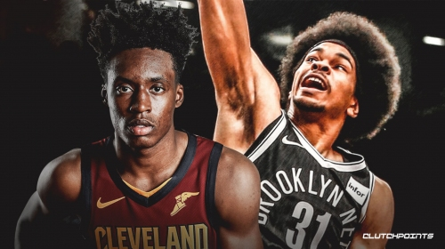 Video: Cavs' Collin Sexton falls victim to another epic block from Nets' Jarrett Allen